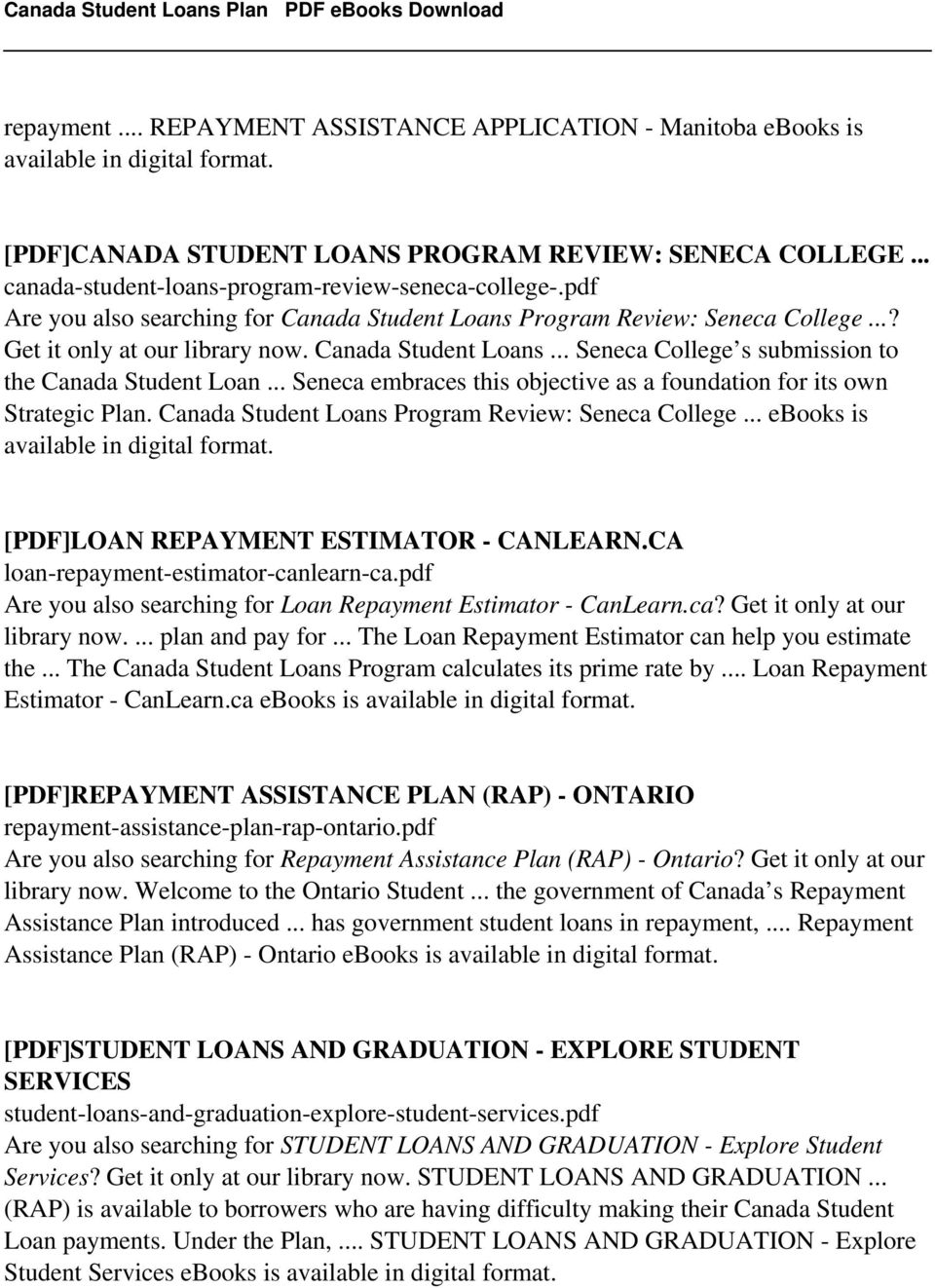 Canada Student Loans Plan - PDF Free Download