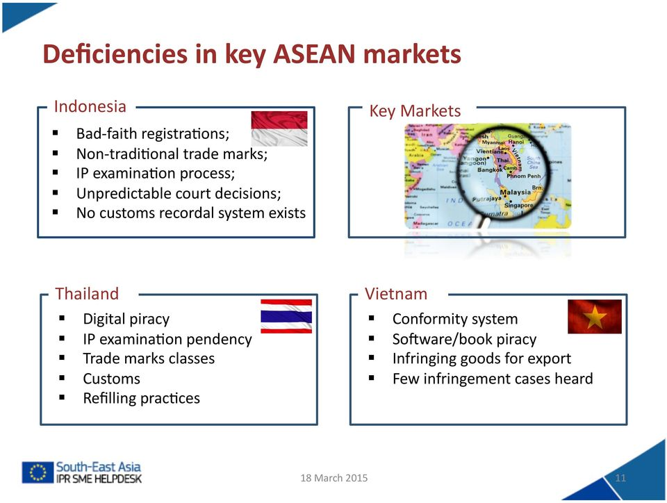 ASEAN- EU STI Days  South- East Asia IPR SME Helpdesk  Paris