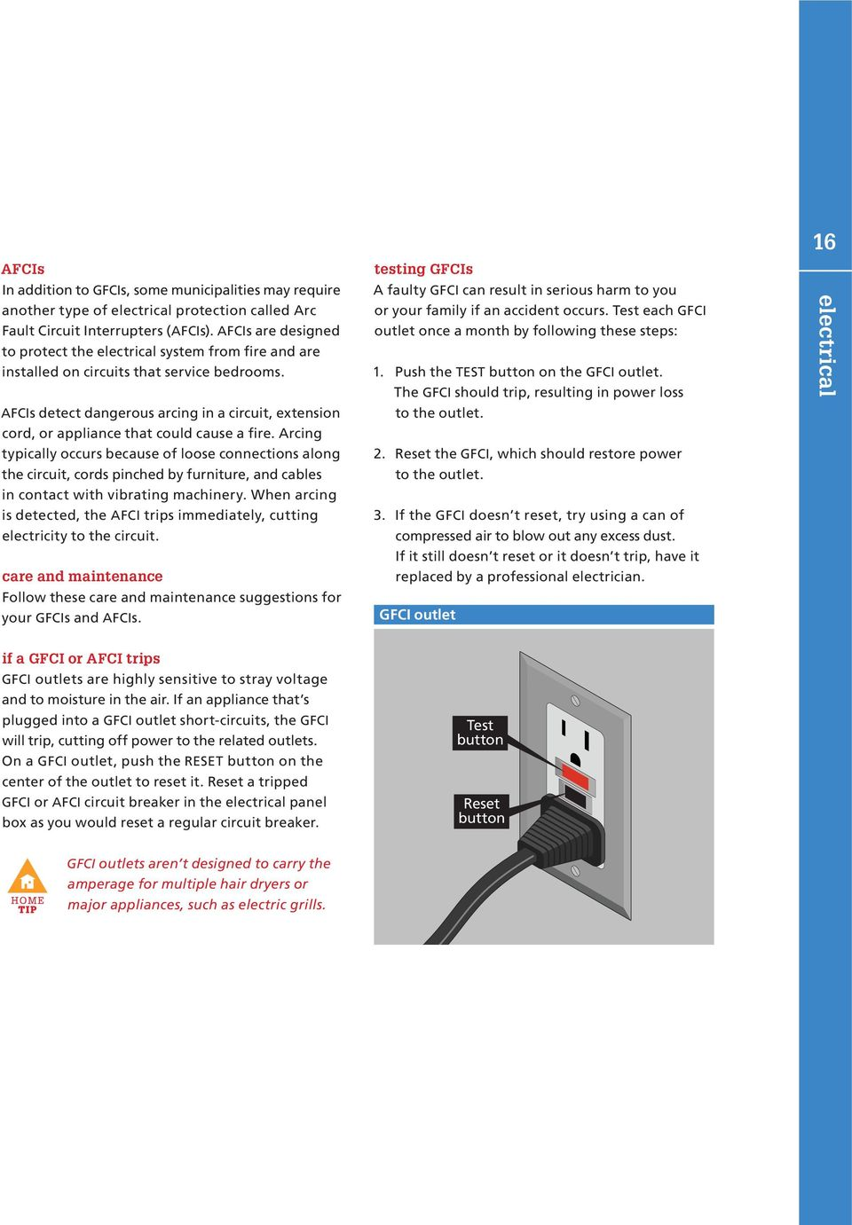 2 Electrical Pultegroup Inc All Rights Reserved Pdf Residential Fires Arcfault Circuit Interrupters Afcis Detect Dangerous Arcing In A Extension Cord Or Appliance That Could Cause