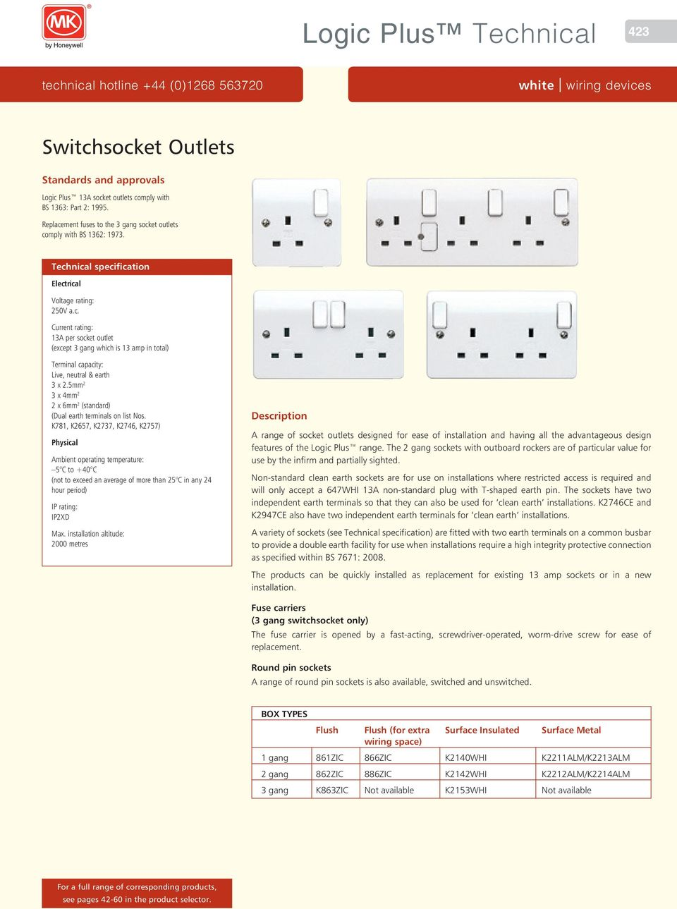 Logic Plus Technical Switchsocket Outlets White Wiring Devices Two Double Mm X 6mm Standard Dual Earth Terminals On List Os 2 Ogic