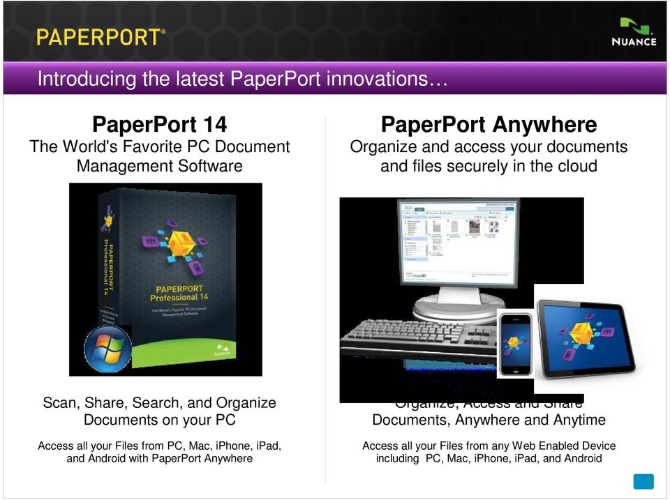 Introducing PaperPort 14 for Windows PCs and PaperPort