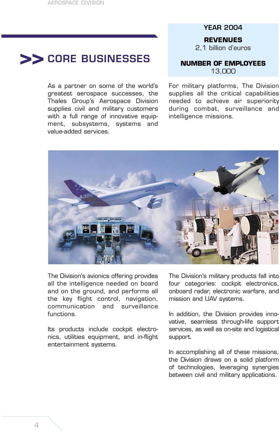 Quality Manual Aerospace Division To Become Our Customer S Airsuperiority Weekly Digital Timer Circuit Year 2004 Revenues 21 Billion D Euros Number Of Employees 13000 For Military Platforms