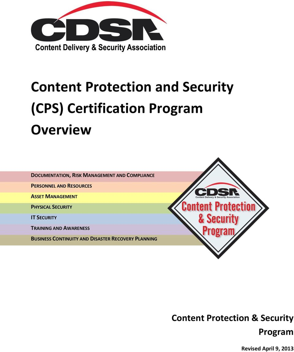 Content Protection And Security Cps Certification Program Overview