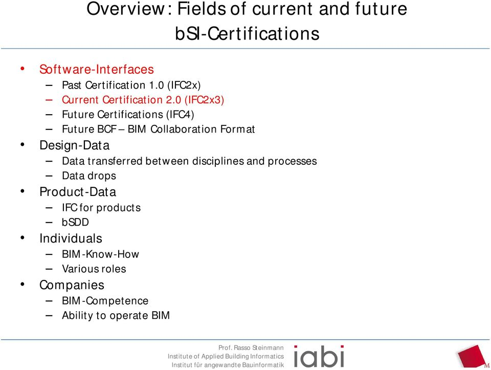 Ifc Software Certification Bim Workflow Support With Bcf Pdf