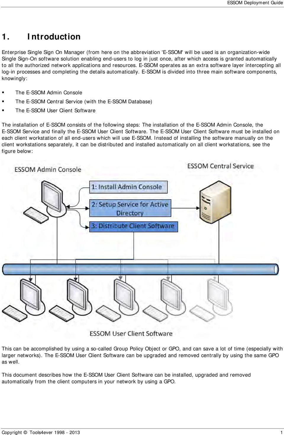 E-SSOM operates as an extra software layer intercepting all log-in processes and completing the details automatically.