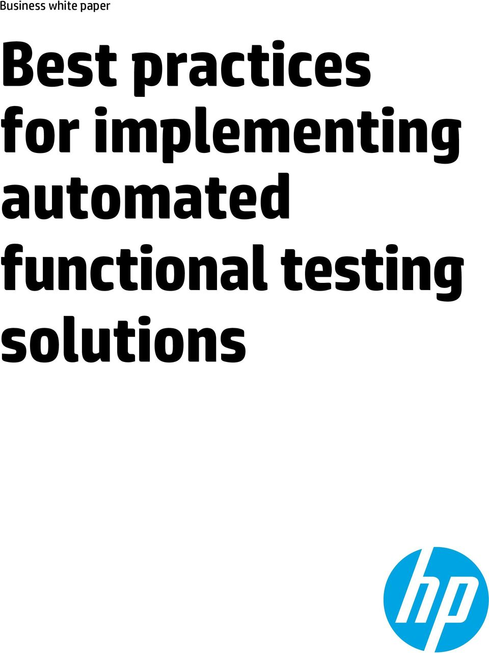 implementing automated
