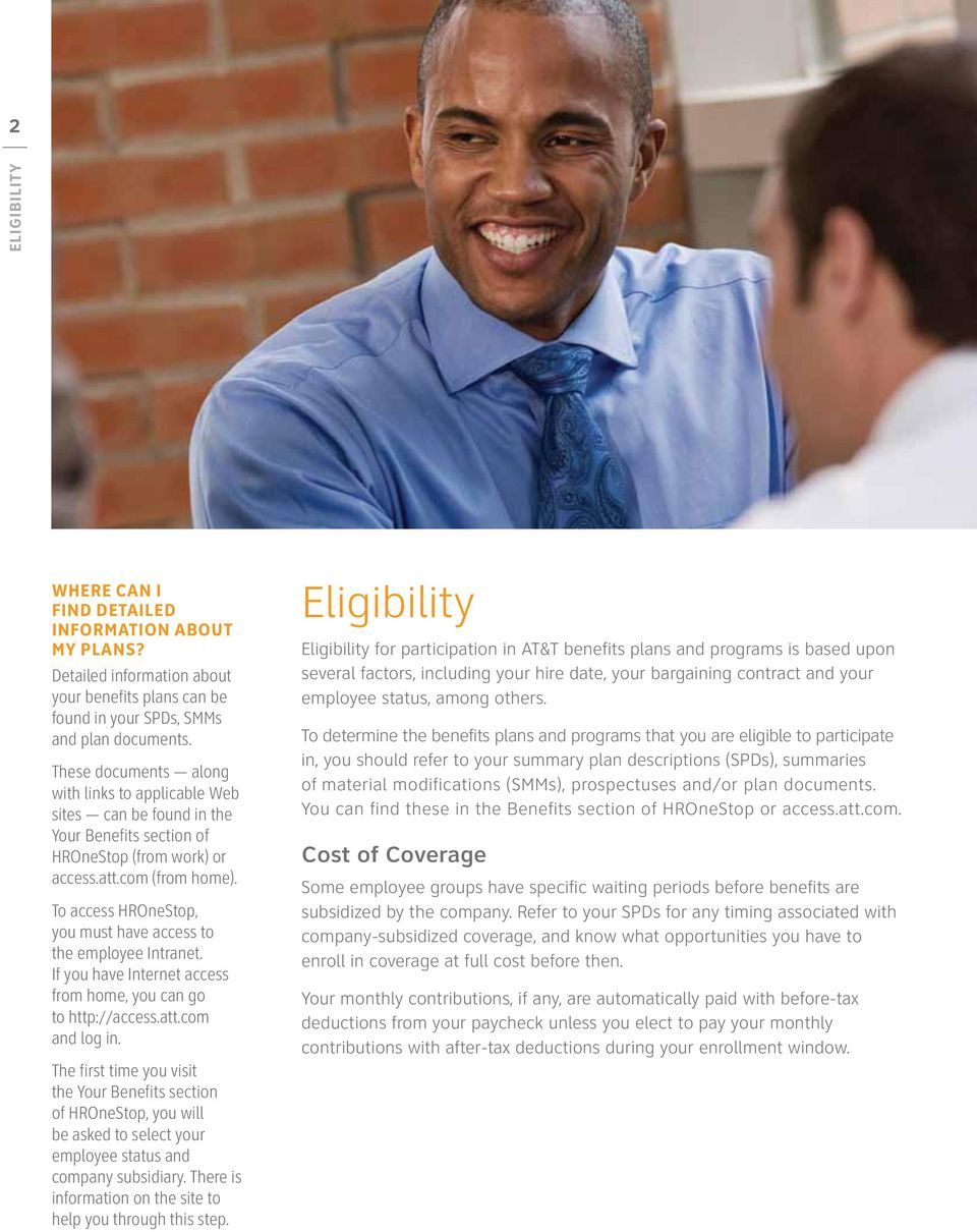 At T New Hire Benefits Guide H Welcome To At T Pdf