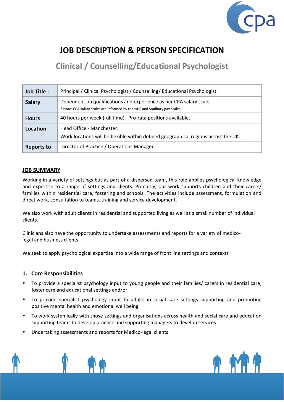 Job Description Person Specification Clinical Counselling