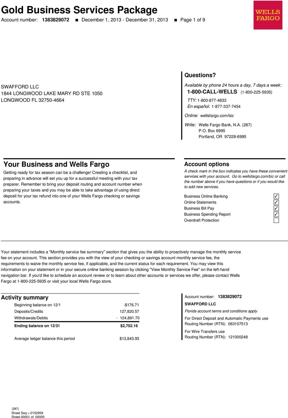 Gold Business Services Package - PDF
