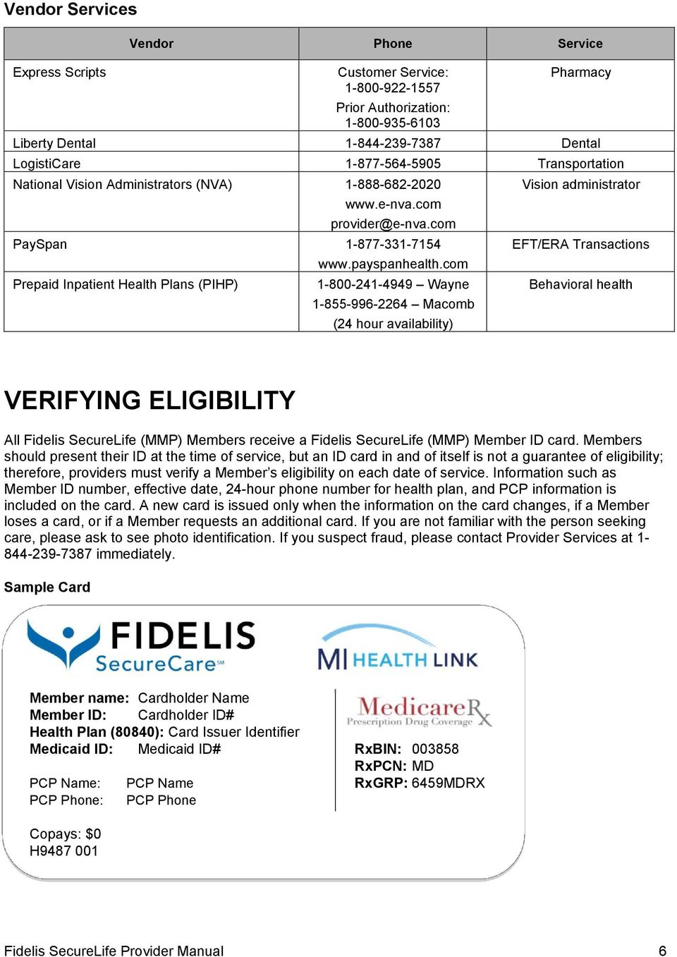 Fidelis Securelife Medicare Medicaid Plan Provider Manual Pdf