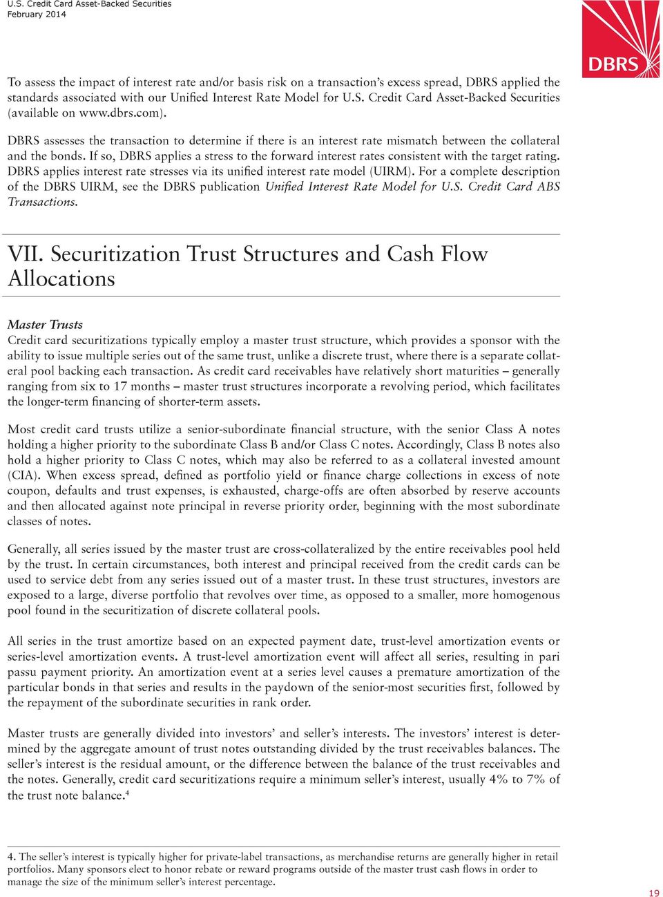 Methodology  U S  Credit Card Asset-Backed Securities - PDF