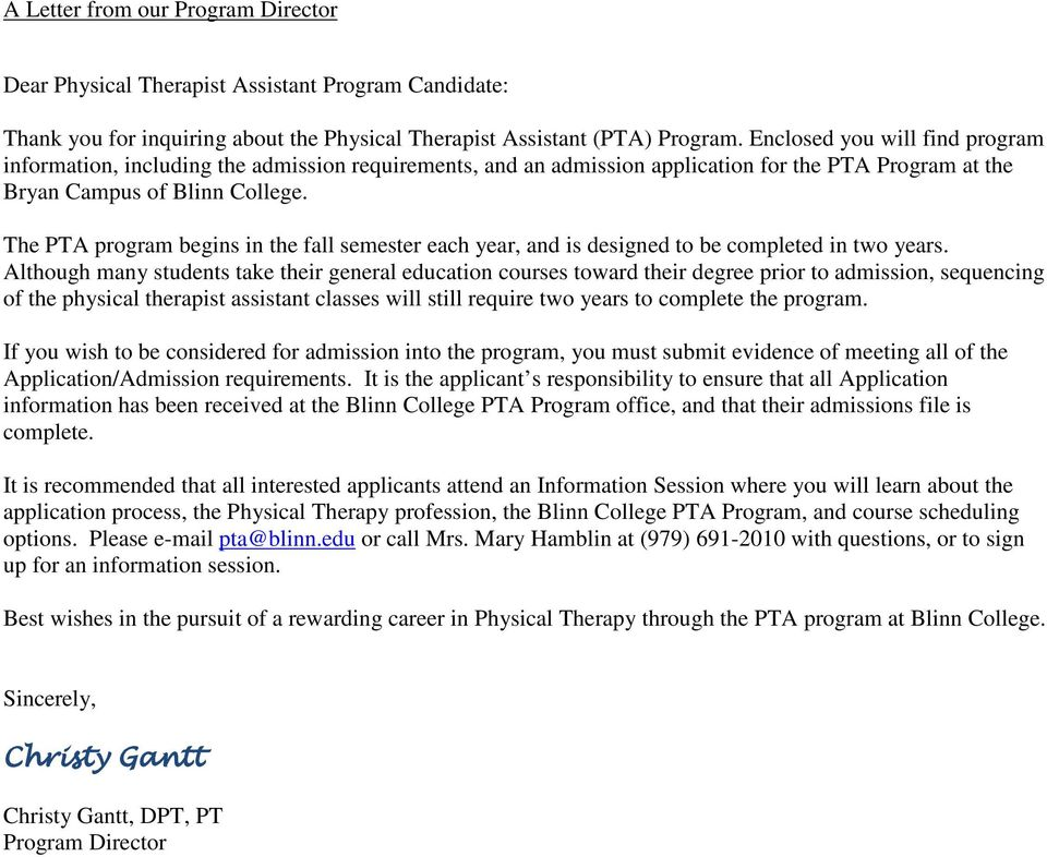 Physical Therapy Letter Of Recommendation from docplayer.net