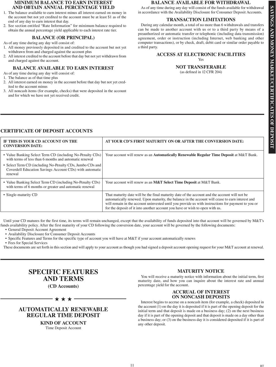 CONSUMER DEPOSIT ACCOUNT TERMS AND CONDITIONS - PDF