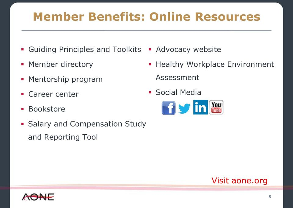 website Healthy Workplace Environment Assessment Social Media