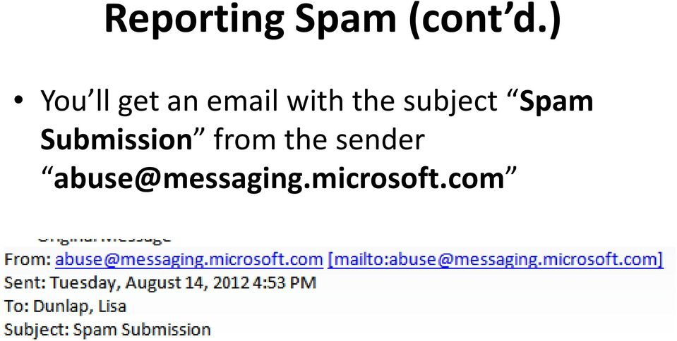 subject Spam Submission from