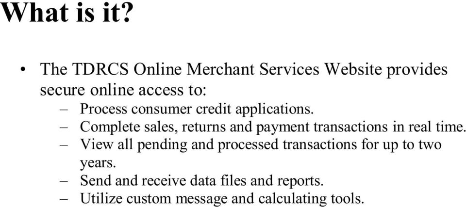 consumer credit applications.