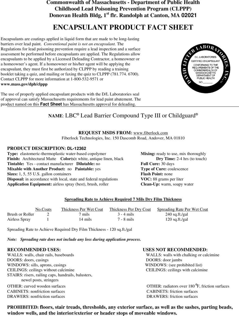 REGISTER OF APPROVED ENCAPSULANT PRODUCTS PAGE 1 - PDF