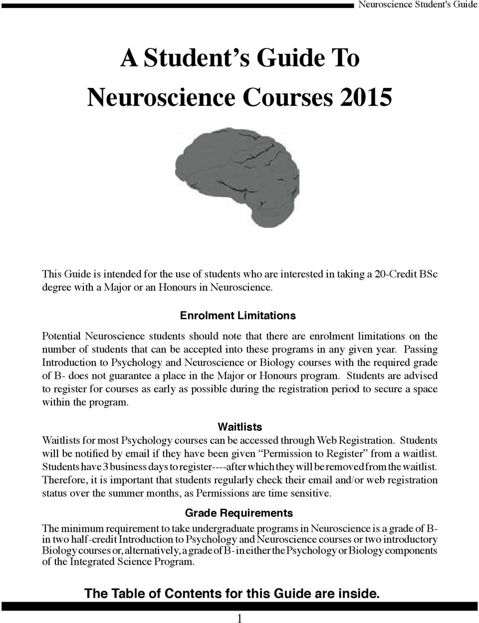 A Student s Guide To Neuroscience Courses PDF