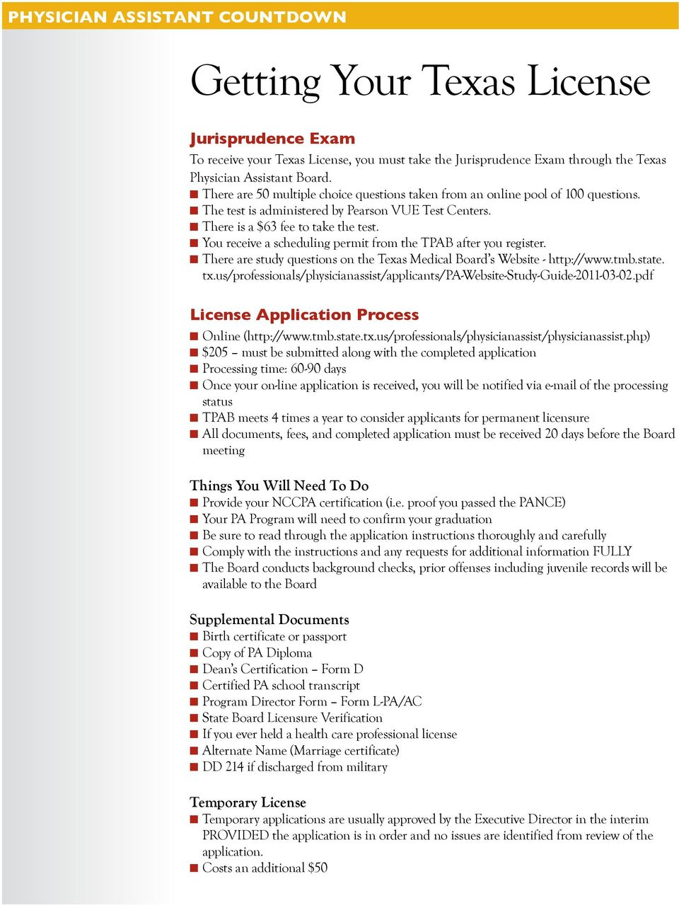 Physician Assistant Countdown - PDF Free Download