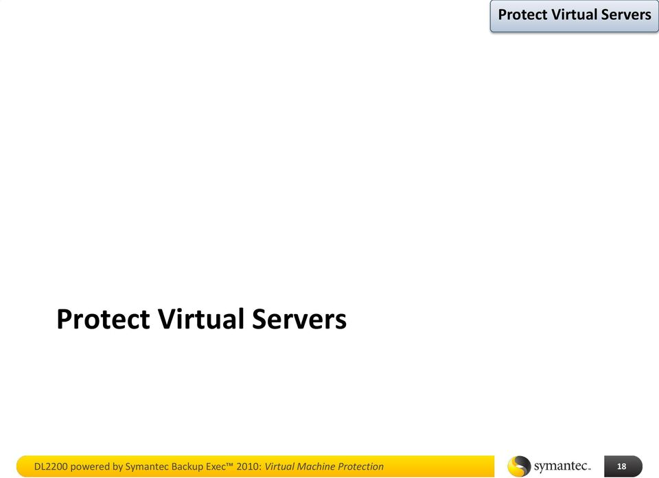 Backup Exec 2010: Virtual
