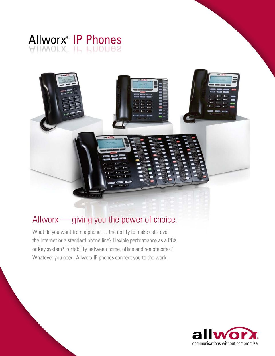 standard phone line? Flexible performance as a PBX or Key system?