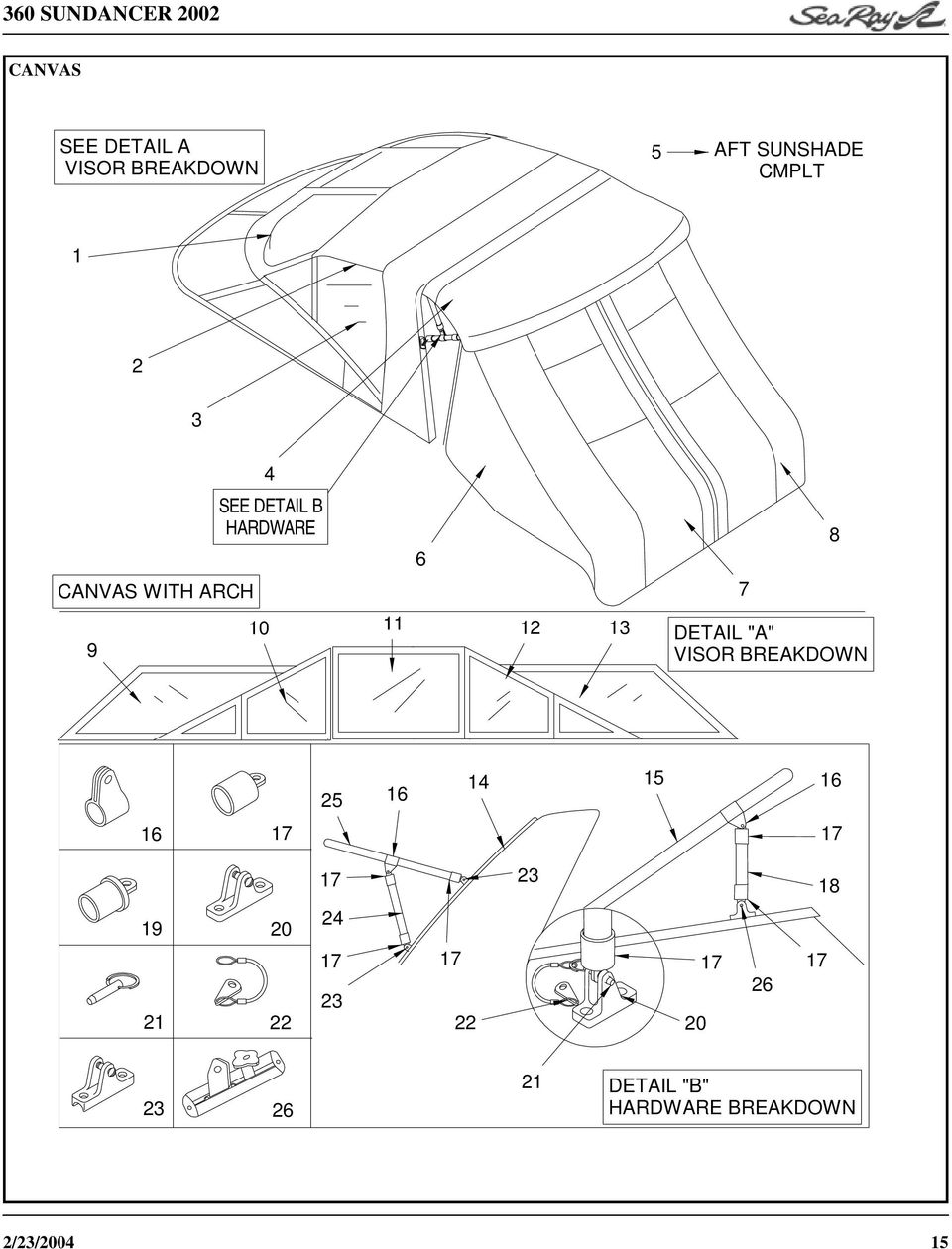 Parts Manual 360 Sundancer Pdf 1989 Mercedes 190 E 2300 Fuse Box Diagram Detail B Hardware A Visor