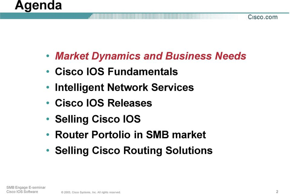 Cisco IOS Software & Router solutions for the SMB market - PDF