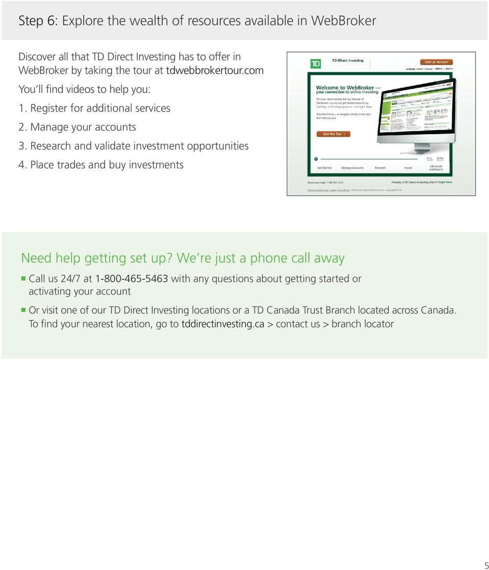 Trade Today  Your guide to getting started with TD Direct