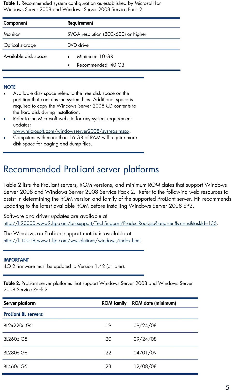 Implementing Microsoft Windows Server 2008 Service Pack 2 on HP