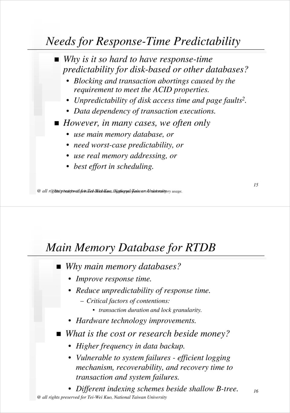 Introduction to Real-Time Databases - PDF