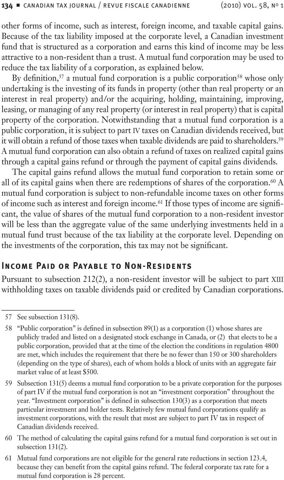 taxation of non-resident investors in canadian investment funds - pdf