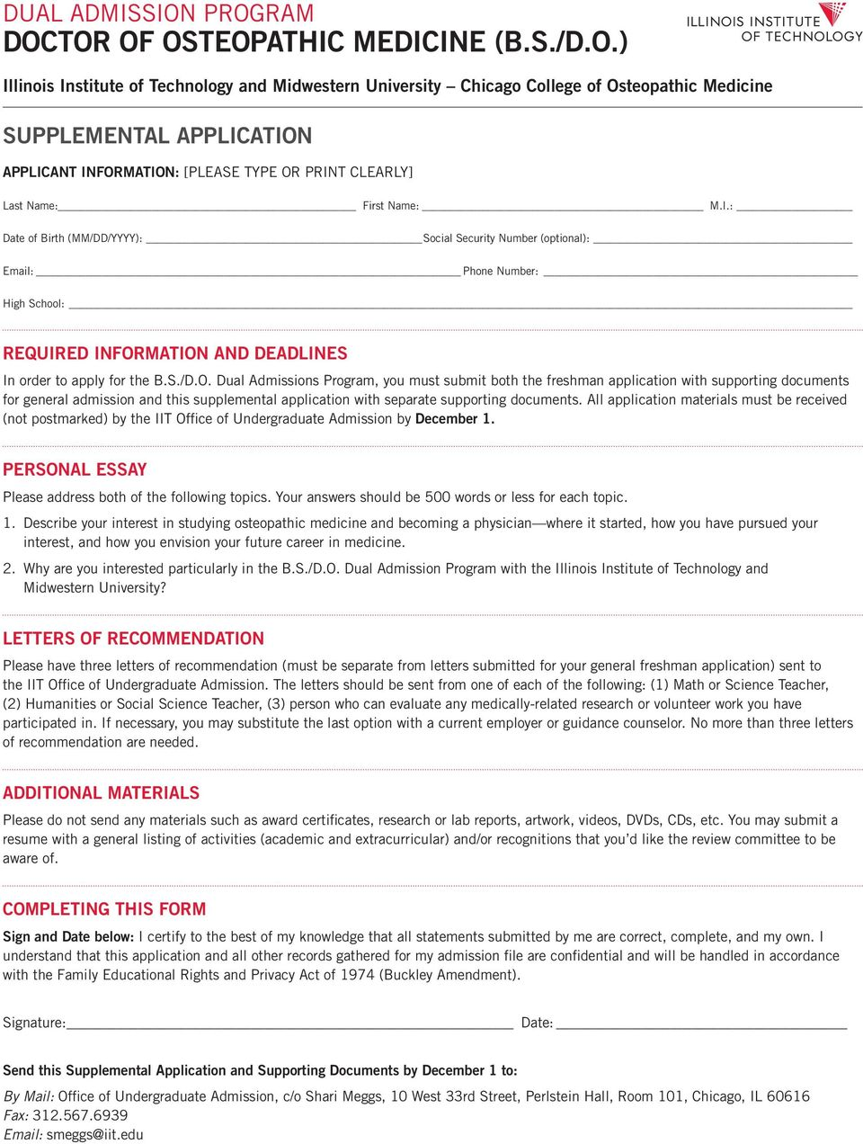DUAL ADMISSION PROGRAM DOCTOR OF OSTEOPATHIC MEDICINE (B.S./D.O.) - PDF