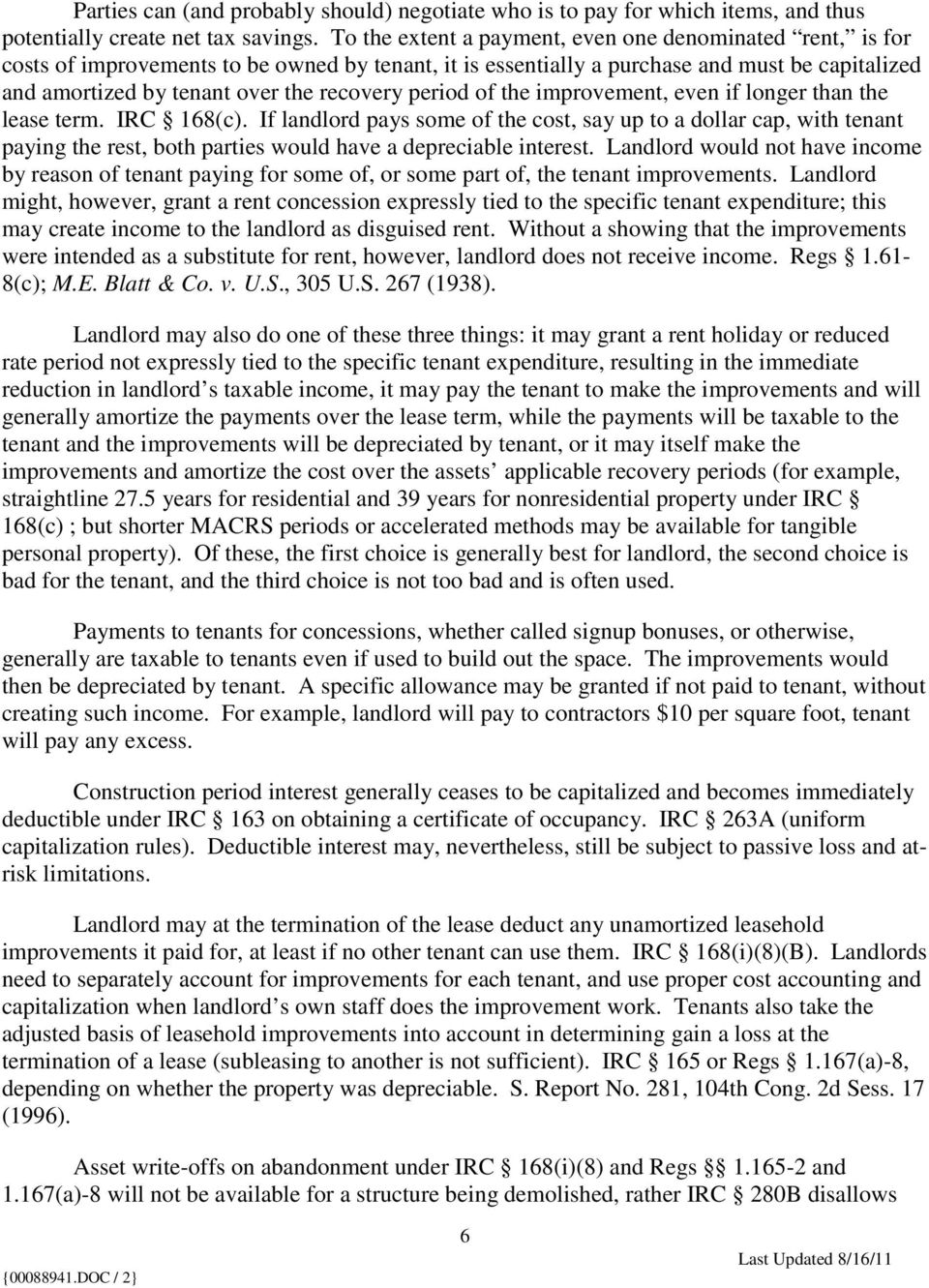 Typical Tax Aspects of Real Property Leases - PDF