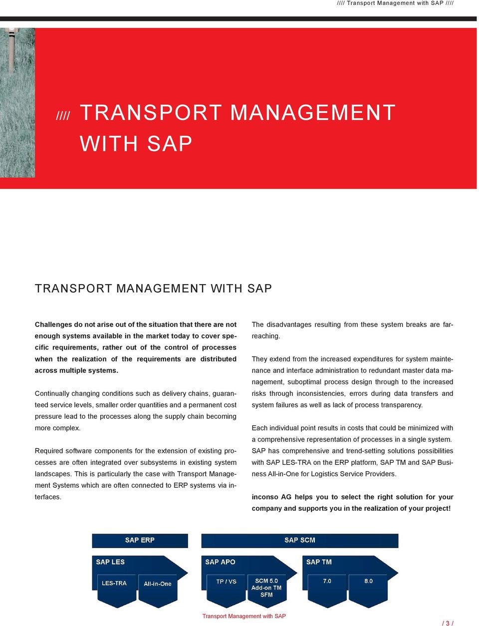 TRANSPORT MANAGEMENT WITH SAP ERP  inconso your consulting