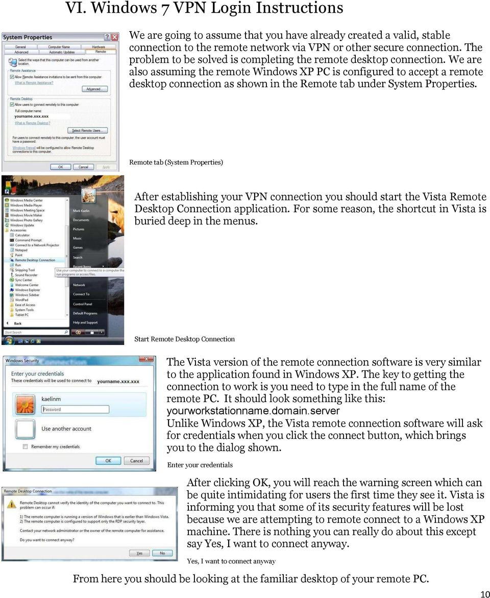 Setting up VPN and Remote Desktop for Home Use - PDF