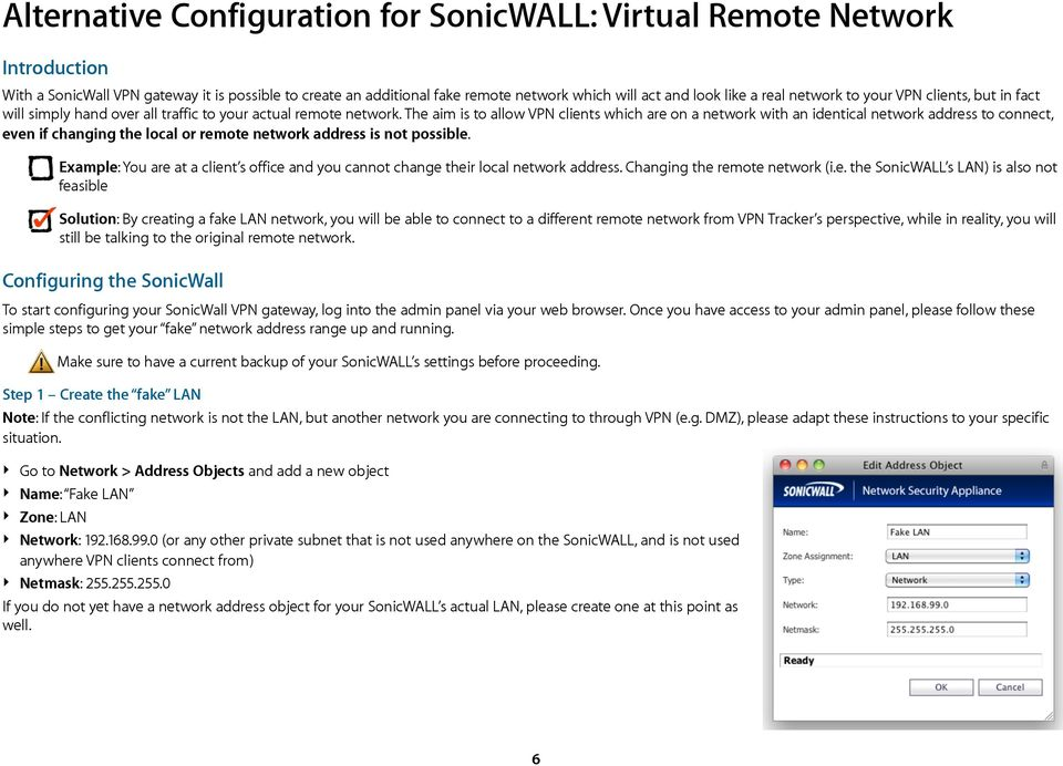 VPN Configuration Guide  Dealing with Identical Local and Remote