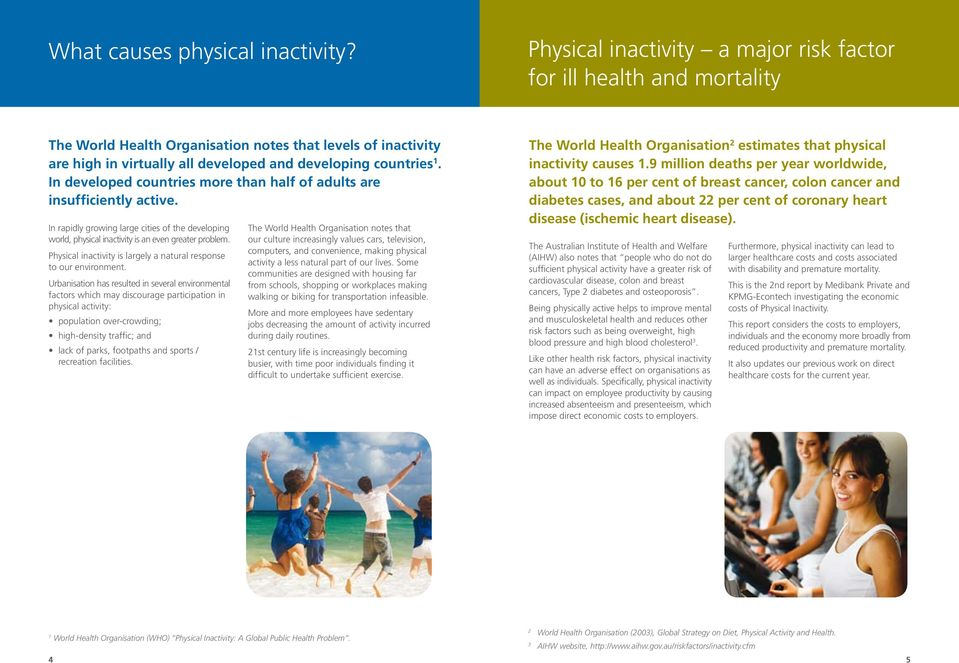The cost of physical inactivity - PDF