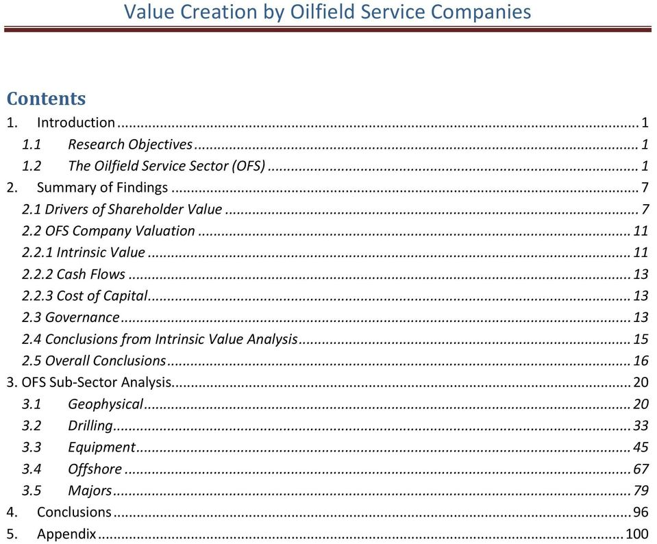 Value Creation by Oilfield Service Companies - PDF