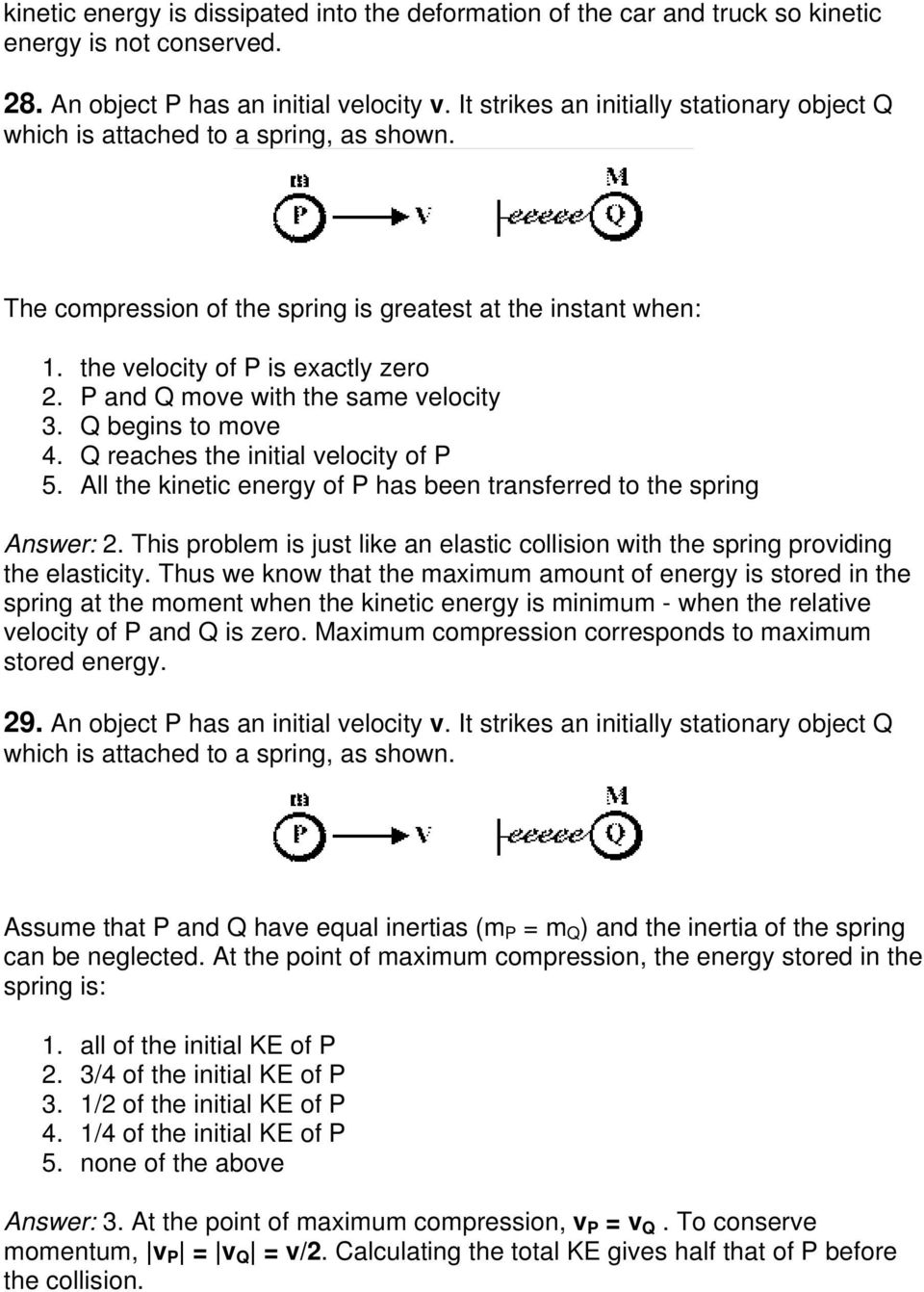 Exam Three Momentum Concept Questions Pdf Free Download