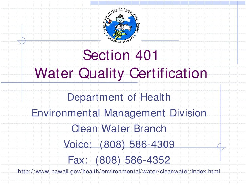 Section 401 Water Quality Certification Pdf