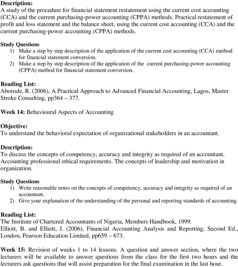 ican study pack for financial accounting