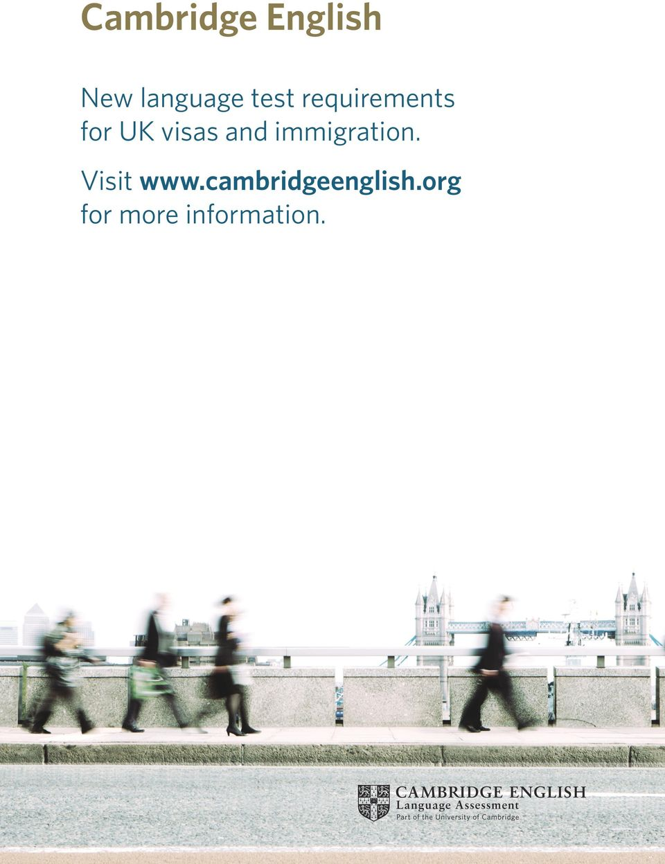 New language test requirements for UK visas and immigration  Visit