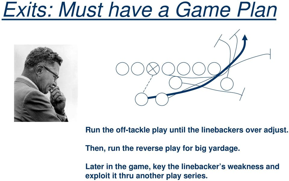 Then, run the reverse play for big yardage.