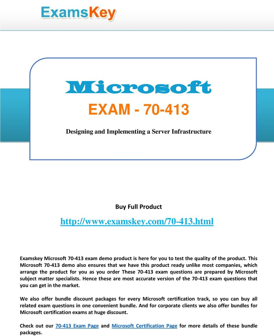 Exam Designing And Implementing A Server Infrastructure Buy Full