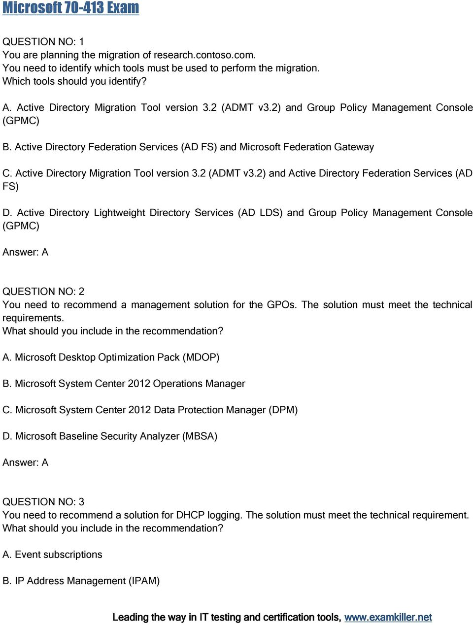 Active Directory Migration Tool version 3.2 (ADMT v3.2) and Active Directory Federation Services (AD FS) D.