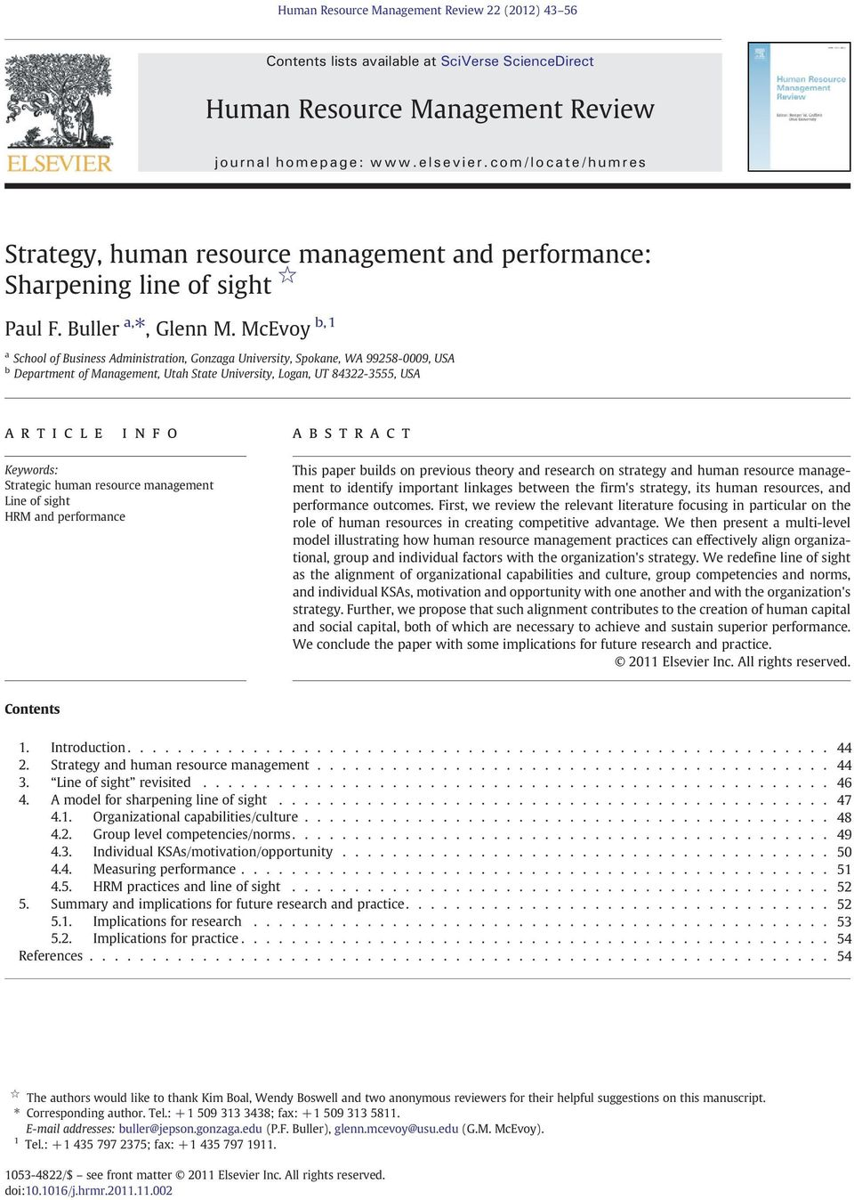 Human Resource Management Review - PDF