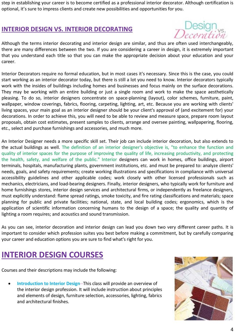 Curriculum Of Interior Design And Decoration Pdf Free Download