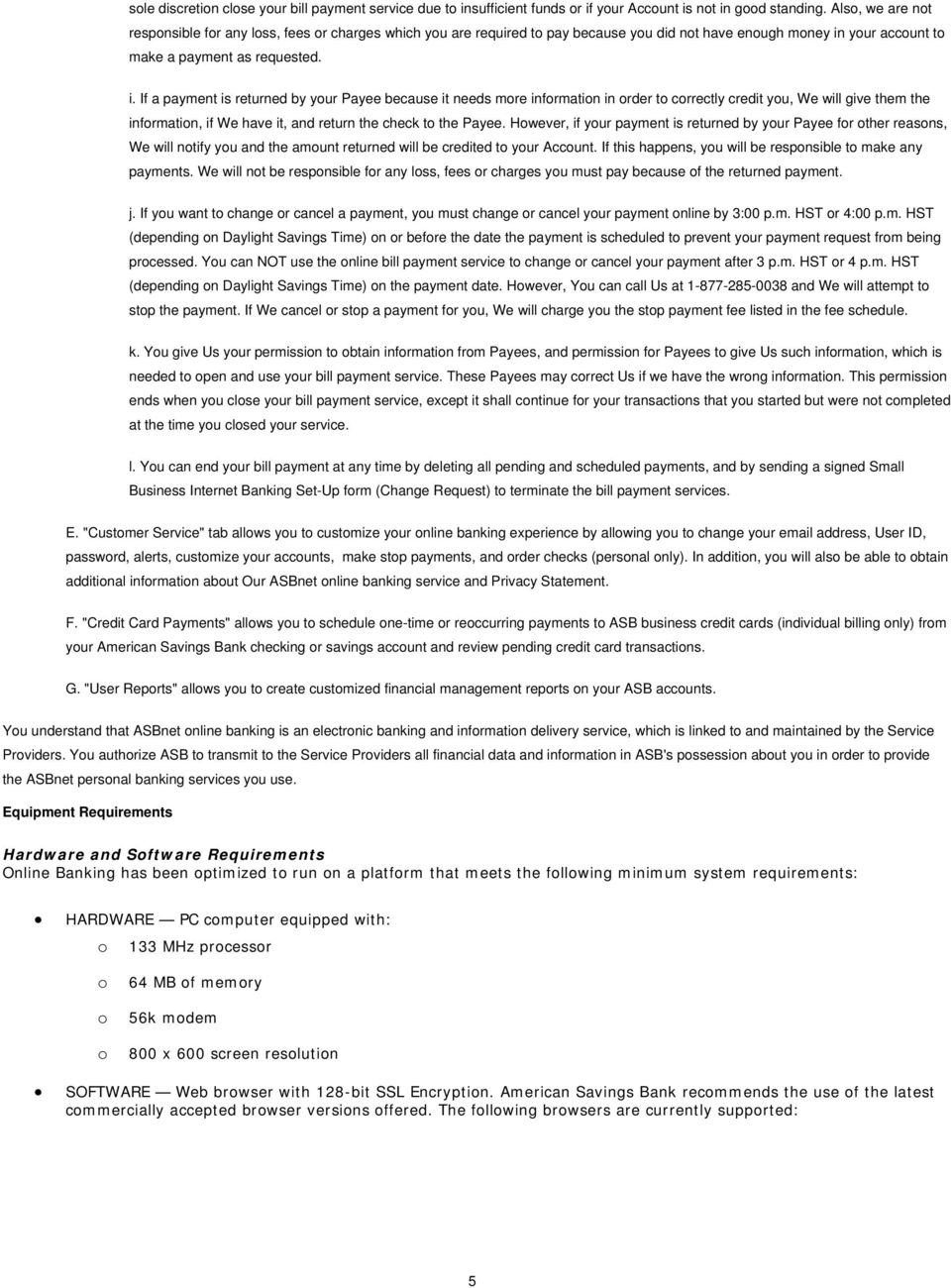 Consumer ebanking for Business Set-Up Form - PDF