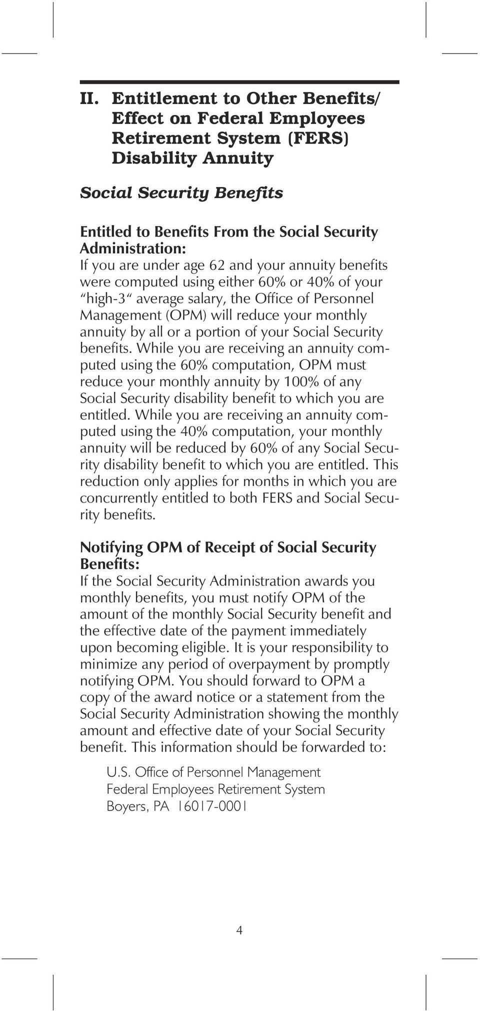 a portion of your Social Security benefits.