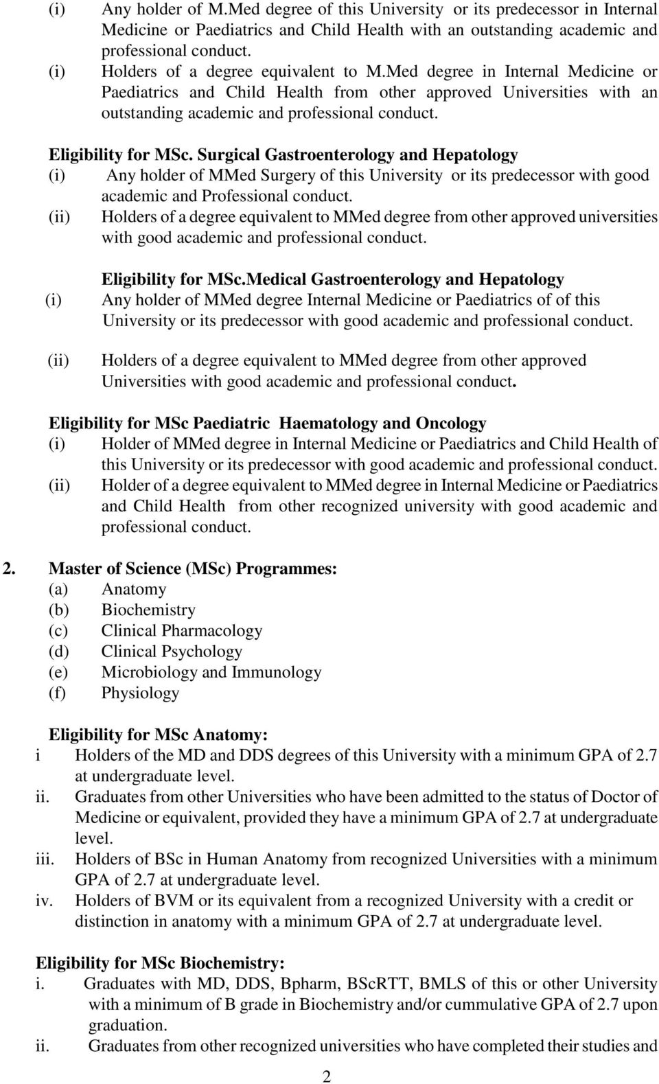 MUHIMBILI UNIVERSITY OF HEALTH AND ALLIED SCIENCES APPLICATION FOR